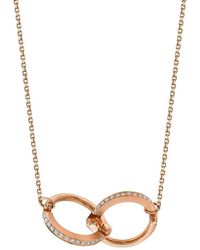 Borgioni Handcuff Chain Necklace In Rose Gold - Metallic
