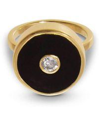 Liz Phillips - Europa Diamond And Black Onyx Ring - Lyst