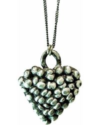 Private Opening - Small Gothic Oxidized Sterling Silver Heart Pendant - Lyst