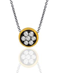 """Lika Behar Collection - Gold And Oxidised Silver """"krissy"""" Necklace - Lyst"""
