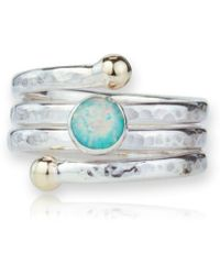 Lavan - Gold And Silver Spiral Opal Ring - Lyst