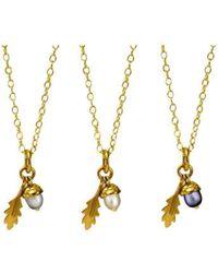 Amanda Cox Jewellery - 18kt Gold Vermeil Small Acorn Pendant - Lyst