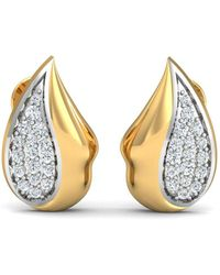 Diamoire Jewels 18kt Yellow Gold 0.33ct Pave Diamond Infinity Earrings Q8iroCWFl