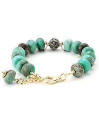 Elisa Ilana Jewelry - Yellow Gold & Green Jasper Lollies Bracelet   - Lyst