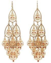 Mara Hotung - 18kt Yellow Gold Orange Sapohire Shalimar Earrings - Lyst