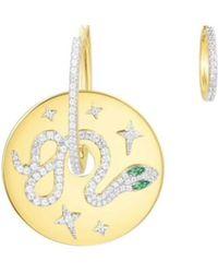 Opes Robur - Gold Vermeil Python Charm Earrings - Lyst