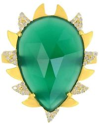 Meghna Jewels - Claw Green Onyx Ring - Lyst