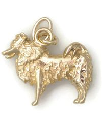 Donna Pizarro Designs 14kt Yellow Gold Sheltie Charm x3HvX