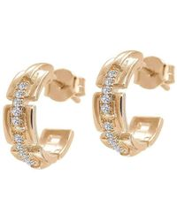 Jezebel London 14kt Rose Gold & Diamond Margaret Hoop Earrings JCjt1