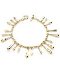 Lucy Quartermaine - Multi Drop Bracelet Gold Plated - Lyst