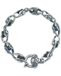 Suciyan - Dragon Knot Lapis And Ruby Sterling Silver Bracelet - Lyst