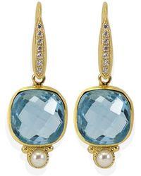 Vintouch Italy - Diana Blue Topaz Earrings - Lyst