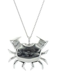Origami Jewellery - Crab Silver Necklace - Lyst