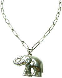 Beryl Dingemans Jewellery - Silver Lucky Elephant Necklace - Lyst
