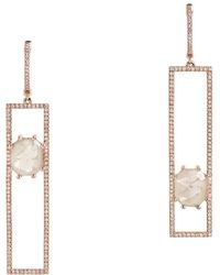 Bridget King Jewelry - Tetris Earrings With Sliced Diamonds - Lyst