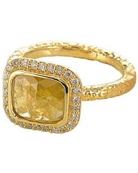 Susan Wheeler Design - Yellow Diamond Ring - Lyst