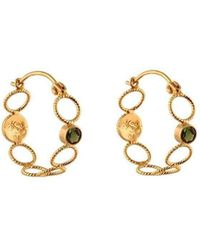 Christina Soubli - Multiple Rounds Hoops With Green Tourmalines - Lyst