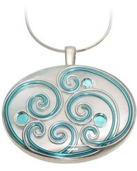 AVA Goldworks - Bluebird Mother Of Pearl Pendant - Lyst