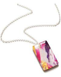 JoJo Blue Design - Pink Ice Necklace - Lyst