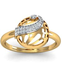 Diamoire Jewels - 18kt Yellow Gold Pave 0.11ct Diamond Infinity Ring I - Lyst