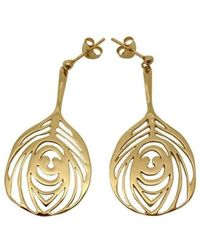 Harriet Bedford - Peacock 18kt Yellow Gold Vermeil Drop Earrings - Lyst