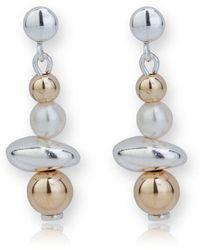 Lavan - Gold And Silver Drop Earrings - Lyst