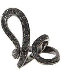 Dada Arrigoni Jewelry - Black Gold Ivy Pave Ring - Lyst