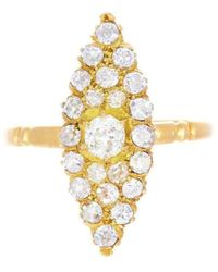 Alexis Danielle Jewelry - Art Deco Marquis Shape Diamond Ring - Lyst