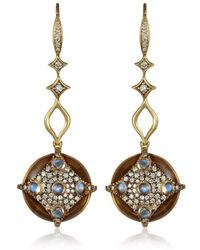 Anahita Jewelry - 18kt Yellow Gold Medallion Earrings - Lyst