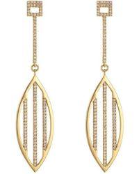 Ayalla Joseph - Shield Me Earrings Yellow Gold - Lyst