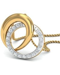 Diamoire Jewels - Hand-carved 18kt Yellow Gold Pendant Inspired By Nature With High Quality Diamonds - Lyst