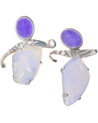 Lainey Papageorge Designs - The Promise - Dancing For Lilacs Earrings - Lyst