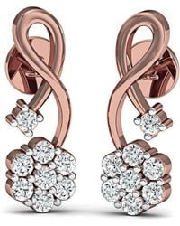 Diamoire Jewels 18 Diamonds and Hand-carved 18kt White Gold Prong Diamond Earrings