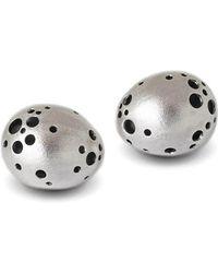 Agneta Bugyte - Polished & Textured Silver Secretive Studs - Lyst