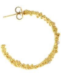 Militza Ortiz - Organica Gold & Pearl Hoop Earrings - Lyst