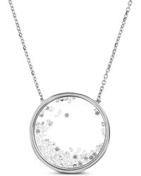 Cosanuova - Floating Circle Necklace - Lyst