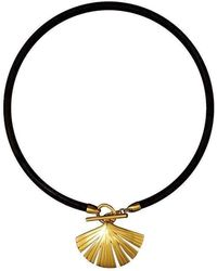 Stefano Salvetti - Yellow Gold Plated Bronze Pendant - Lyst