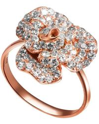 Fei Liu - Peony Ring Rose Gold Finish With Cz Alternative - Lyst