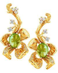 Chekotin Jewellery - Yellow Flower Eden Earrings - Lyst