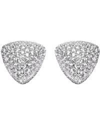Lustre of London - Micro Set Triangle Studs - Lyst