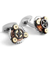Tateossian - Silver & Gold Rotondo Gear Cufflinks | - Lyst