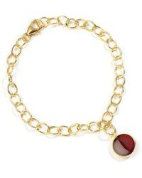 Syna - 18kt Rhodolite Garnet Charm Bracelet - Lyst