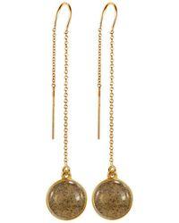 Dune Jewelry - Gold Sandglobe Earrings - Long - Lyst