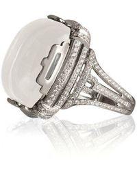 Goshwara - Rock N Roll Moon Quartz Cabochon Rings - Lyst