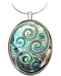 AVA Goldworks - Hibiscus Abalone Pendant - Lyst