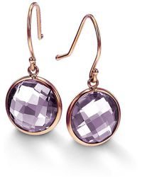 BCOUTURE - Single Pink Amethyst Drop Earrings - Lyst