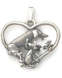 Donna Pizarro Designs - Sterling Silver Whimsical Cat, Dog And Mouse Necklace - Playful Trio - Lyst