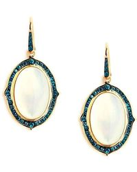 Syna 18kt Moon Quartz Earrings With Blue Diamonds gEDrY7