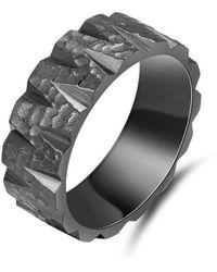 KAVALRI - Asteroid Black Zirconium Ring - Lyst