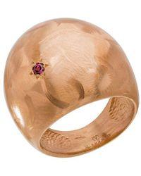 Mishanto London - Garnet Veneto Dome Ring - Lyst